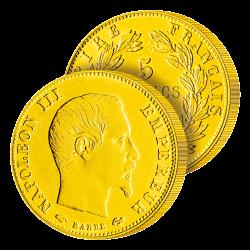 5 Francs Or Napoléon III...