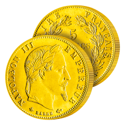 5 Francs Or Napoléon III lauré