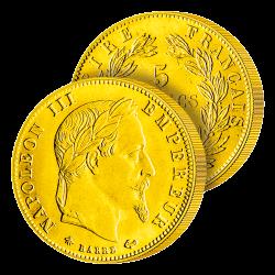 5 Francs Or Napoléon III lauré