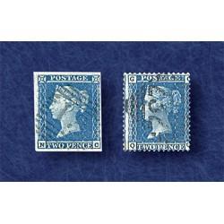 Penny Bleu Type 1841 et 1854
