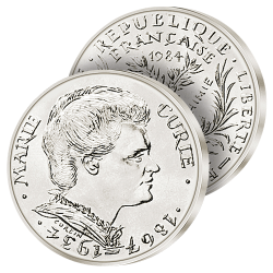 100F Argent Marie Curie 1984