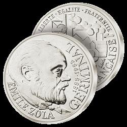 100F Argent Émile Zola 1985