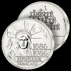 100F Argent Liberté 1986