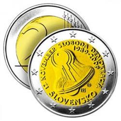 2 Euros Slovaquie 2009 - 20 ans de la Révolution de Velours