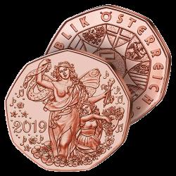 5 €uros Cuivre « La Joie »...