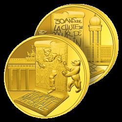 5€ Or Pur Chute du Mur de...
