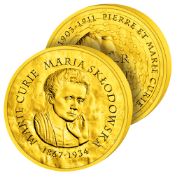 200€ Or Pur Marie Curie