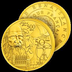 50€ Or Pur France Renaissance
