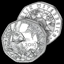 5€ Argent Lapin de Pâques 2019