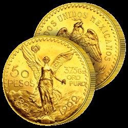 50 Pesos Or du Trésor Mexicain