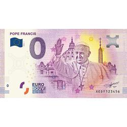 Billet 0€ Pape François