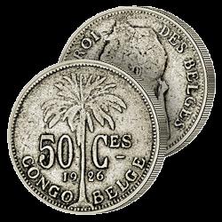 Demi-Franc Historique Congo...