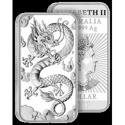 Dollar Argent Pur Dragon 2019