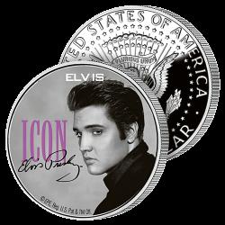 Demi-Dollar Elvis Icône...