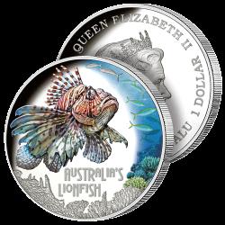 Dollar Argent  Pur Lionfish...