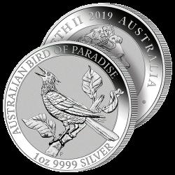 1$ Argent Pur Oiseau du...