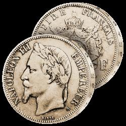 5F Argent Napoléon III lauré