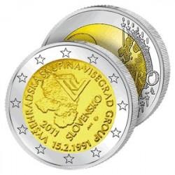 2 Euros Slovaquie 2011 - Groupe de Visegrad