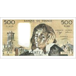 500 Francs Pascal type 1968
