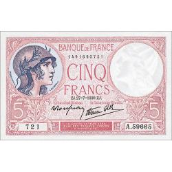 5 Francs Violet Type 1917