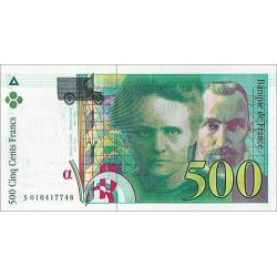 500 Francs Pierre et Marie...