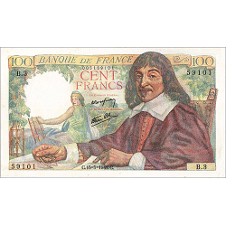 100 Francs Descartes type 1942