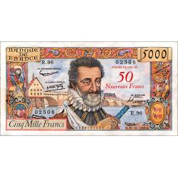 5.000 Francs Henri IV type...