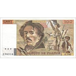 100 Francs Delacroix type 1978