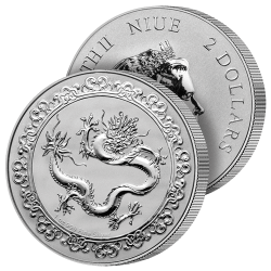 2 Dollars Argent Pur Dragon...