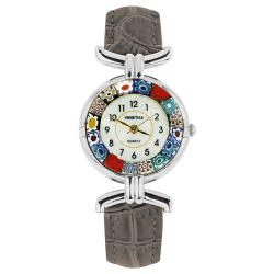 Montre Murano cuir gris