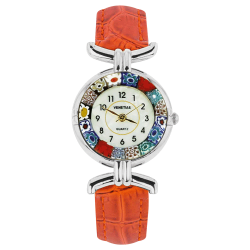 Montre Murano cuir orange