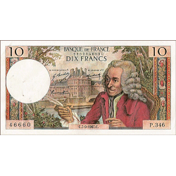 10 Francs Voltaire type 1963