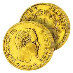 10 Francs Or Napoléon III...