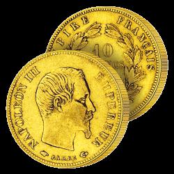 10 Francs Or Napoléon III...