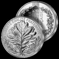 20€ Argent Le Chêne 2020