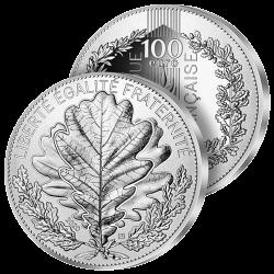 100 €uros Argent Le Chêne