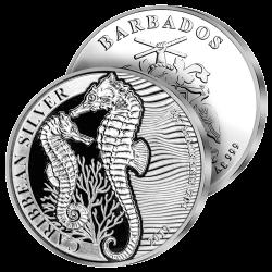 Dollar Hippocampe Argent Pur