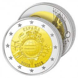 2€ 10 ans de l'Euro - Espagne