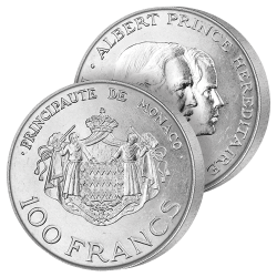 100 Francs Argent des Grimaldi