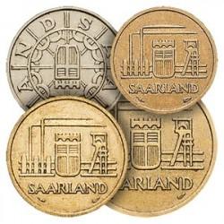 4 pièces du Protectorat en Francs