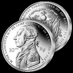 10 Euros Argent La Fayette...
