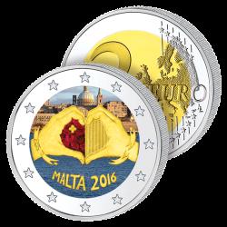 2 Euros Malte 2016 en Couleurs