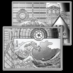 10 Euros Argent Hokusai