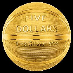 5 Dollars Argent Pur Ballon...