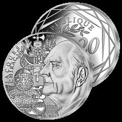 20€ Argent France Jacques...