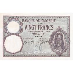 20 Francs Algérie type 1912