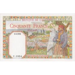 50 Francs Algérie type 1945