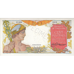 100 Piastres Indochine 1947