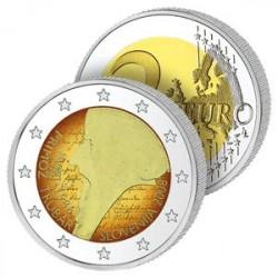 2 Euros Slovénie 2008 en Couleurs