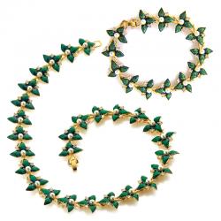 Bracelet et Collier Émeraude
